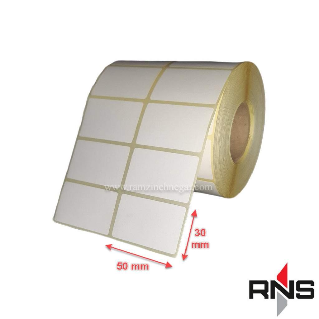 برچسب و لیبل کاغذی 50×30