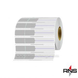 لیبل جواهر (لیبل دم شیشه ای) نقره ای PVC