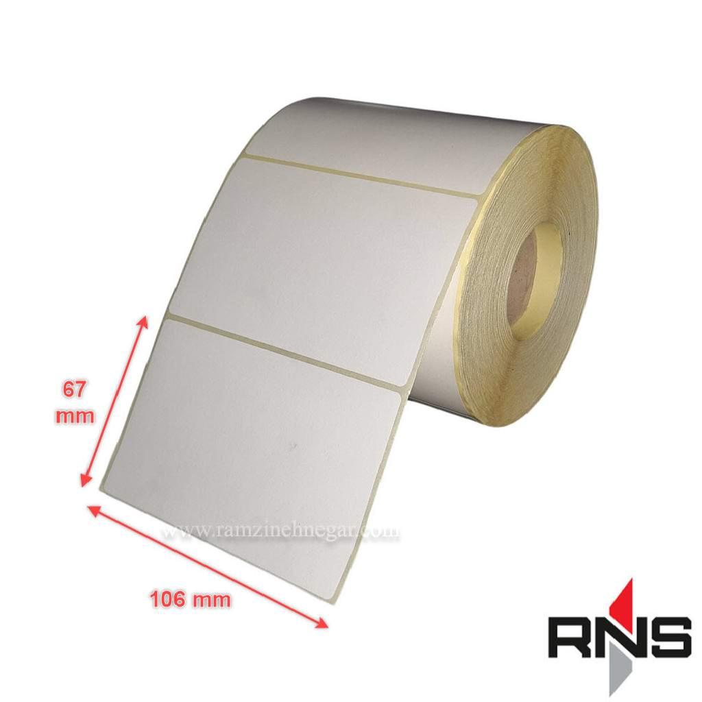 برچسب و لیبل کاغذی 67×106